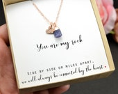 personalize gift for her December birthday Best Friend Necklace Jewelry raw birthstone bracelet unbiological sister aunt niece Christmas gif