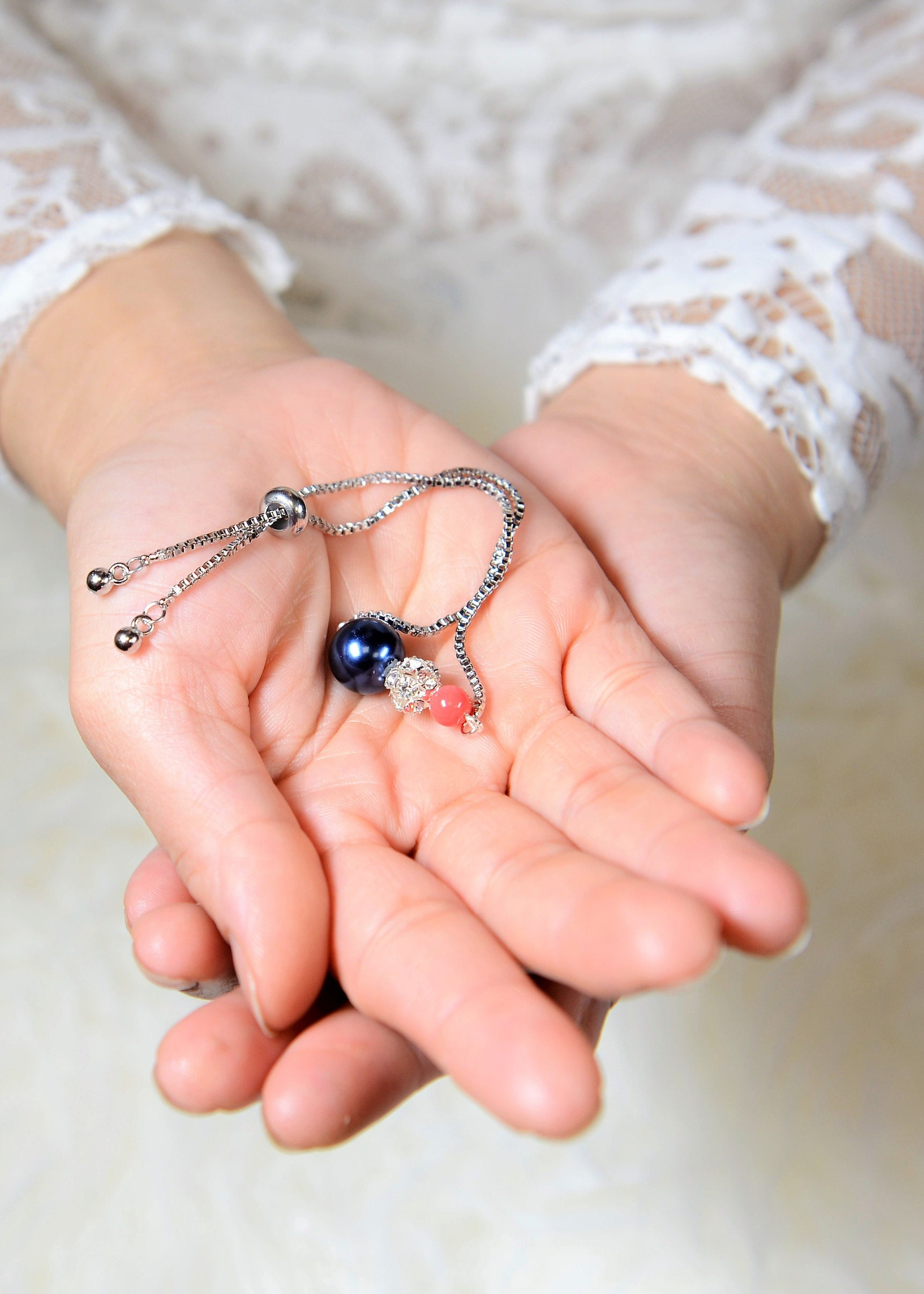 navy blue coral bracelet Wedding Jewelry Bridesmaid Earrings Jewelry ...