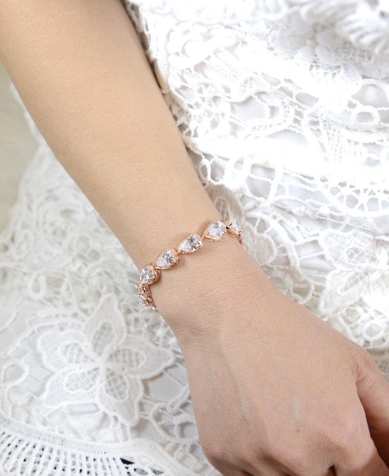 Blush Pink gold opal pink champagne Bridesmaid Earrings bracelet Bridesmaids Gifts set 4 5 6 wedding bridal earrings  Light Pink Soft Pink