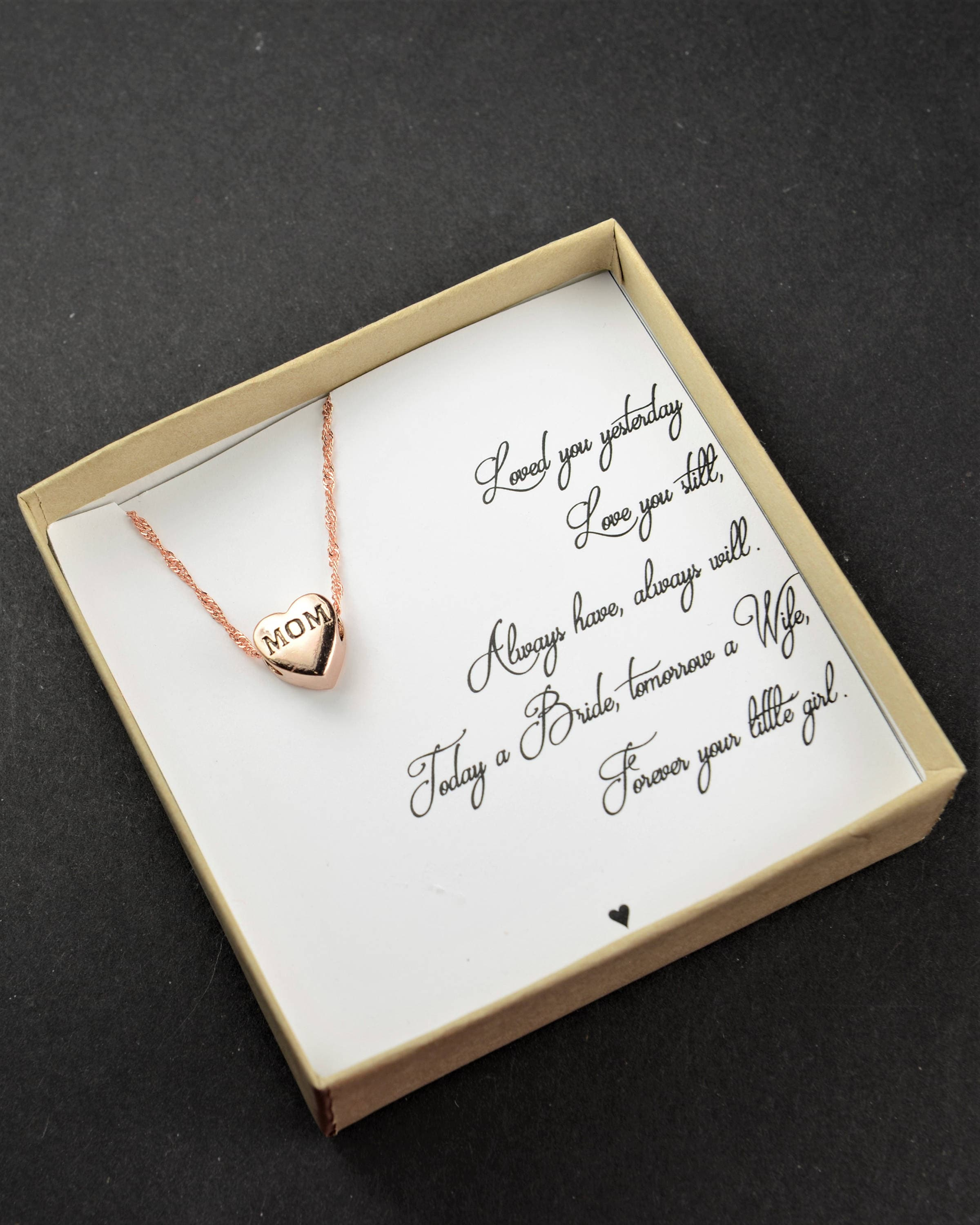Mother of the Bride gift from bride daughter necklace wedding gift ...