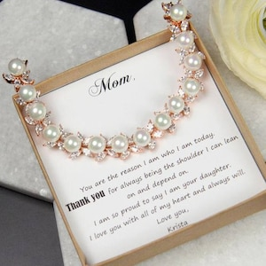 Bracelet Mother of the Bride gift Mother in law wedding gift mother ...