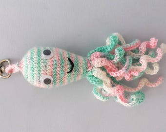 Rain the Octopus /Amigurumi crochet/ Cute Animal Plushie/ Key Chain