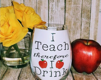 Teacher Wine Glass- Stemless