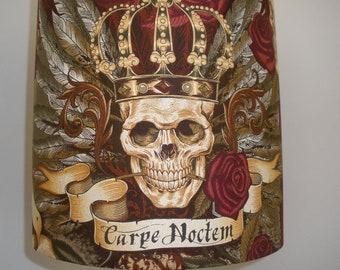 "Carpe Noctem, ""seize the night""  Royal Vintage Fabric by Alexander Henry, 30cms handmade lampshade"