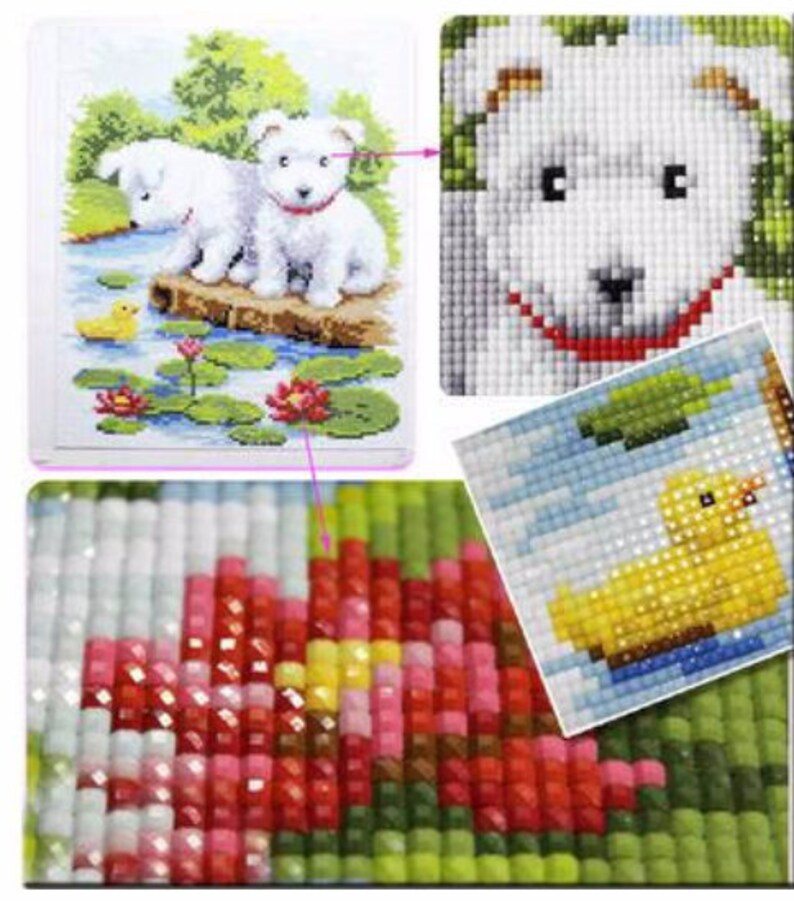 5D Animal Diamond Painting Home Decoration Painting Dogs Diy Hand-pasted Painting Suite