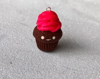 Pink Chocolate Cupcake Charm