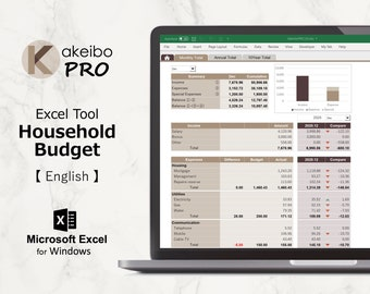 Kakeibo Pro – Excel tool household Budget for English, Cement