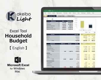 Kakeibo Light – Excel tool household Budget for English, Mirage