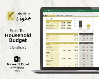 Kakeibo Light – Excel tool household Budget for English, Armadillo