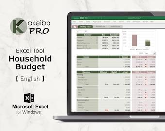 Kakeibo Pro – Excel tool household Budget for English, Yanagi susutake