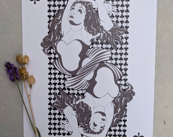 Drag Queen of Clubs A4 print jumbo card