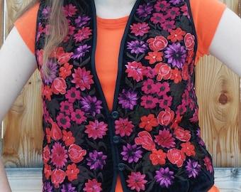 BEAUTIFUL VINTAGE Floral Vest