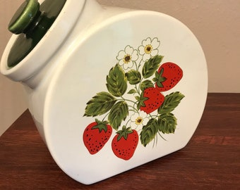 Lovely Strawberry Cookie Canister