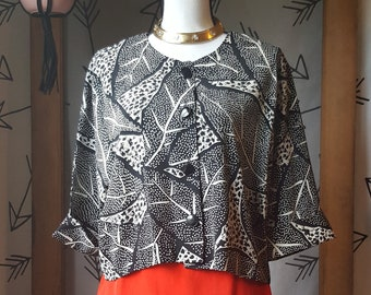 vintage 1980s John Roberts button top