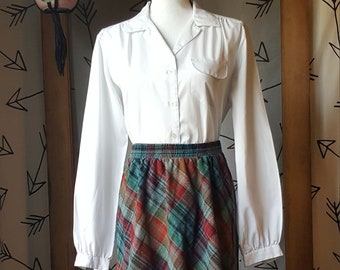 Vintage 1950s White Button down blouse
