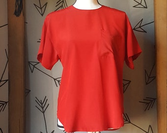 Vintage 1980s City Girl Sport Red Top