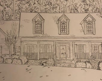 Custom pencil drawings of your home