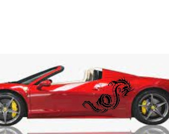 Serpent Auto Accent Decal,  Serpent Car Decal ,Hot Car Decal,Car Side Decal, Car Roof Decal, Car Trunk Decal, Car Door Decal, serpent