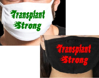 """Transplant Strong HTV (heat transfer vinyl) """"""""Decal Only"""""""",  Mask """"""""Not"""""""" Included, HTV Decal for Mask, Organ Donation HTV USAVinyls"""