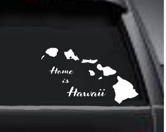 Your State Decal,  Car State Decal,  Home State Decal, Auto Decal, Home is Decal, Decal of Home State, Hawaii through Maine, USAVinyls