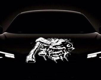Skull Auto Accent Decal, Skulls Car Vinyl,  Skull Axe Car Decal, Hot Car Decal, Car Side Decal, Car Trunk Decal, Car Door Decal