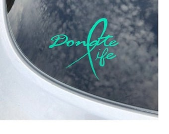 Organ Donation Decal,Transplant Decal,Vinyl Decal, Donate Life, Donate Kidney Decal, Living Donor, Recycle Yourself,Organ Donor, USAVinyls