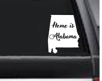 Your State Decal,  Car State Decal,  Home State Decal, Auto Decal, Home is Decal, Decal of Home State, Alabama through Georgia, USAVinyls