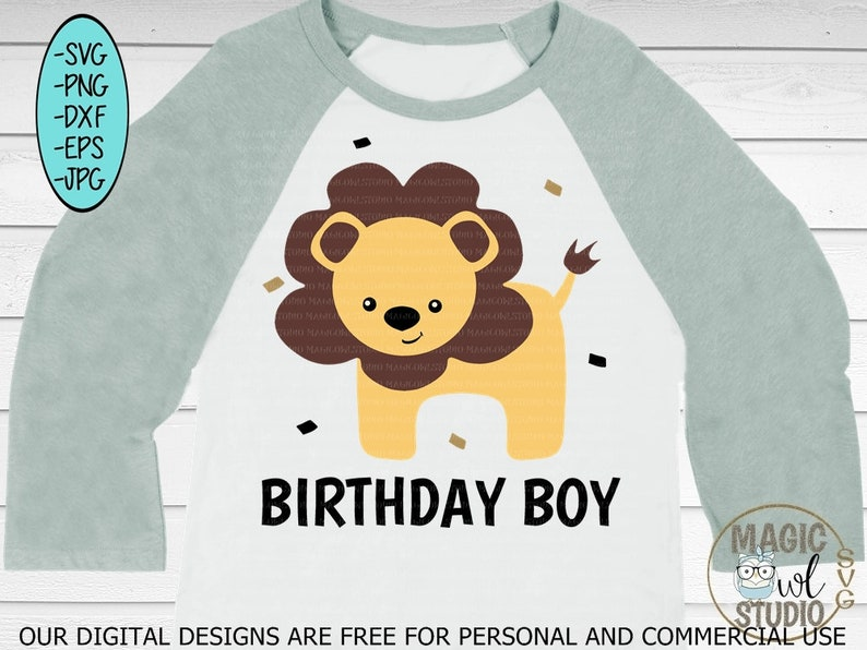 Lion Svg Filelion Svgpngjpgdxfepsboy Birthday Etsy