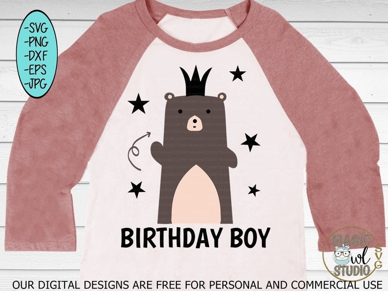 Bear Svg Filebaby Bear Svgpngjpgdxfepsboy Birthday Etsy
