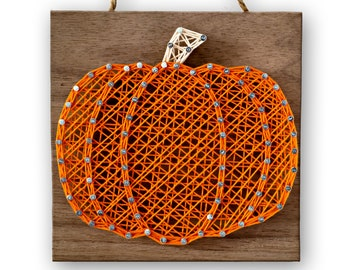 "5"" x 5"" Pumpkin String Art Kit | DIY Adult Halloween & Thanksgiving Holiday Craft Project"