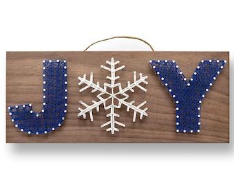 "12"" x 5"" Winter Joy String Art Kit | DIY Adult Christmas Craft Project"