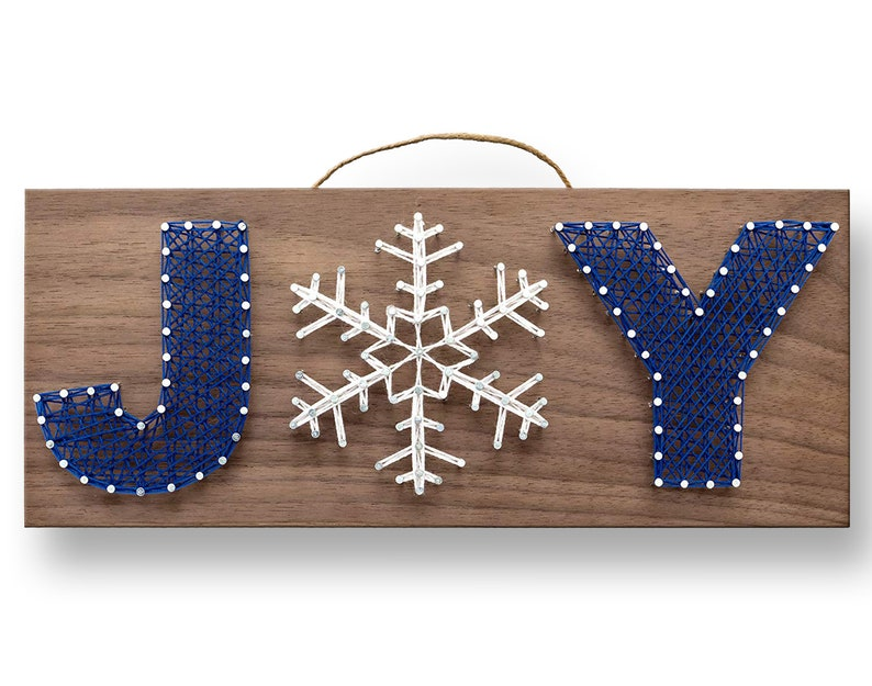 12 x 5 Winter Joy String Art Kit  DIY Adult image 0