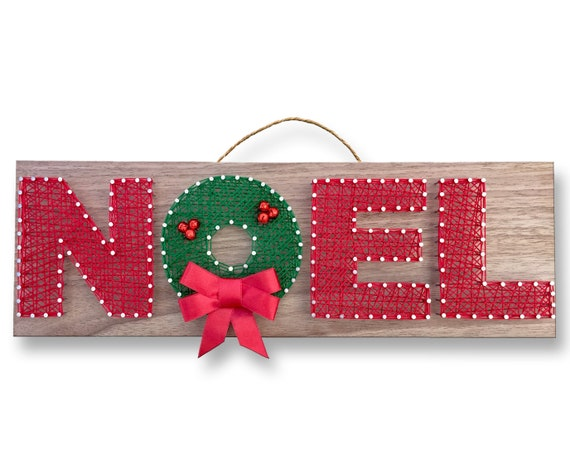 Diy Noel.Noel String Art Kit Diy Kit Adult Crafts Wreath Design Holiday Gift Christmas Gift Craft Kit Gift For Mom Arts And Crafts Winter