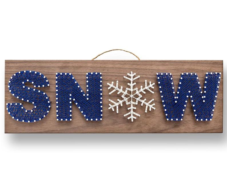 SNOW String Art Kit  DIY Kit Adult Crafts Teen Crafts image 0
