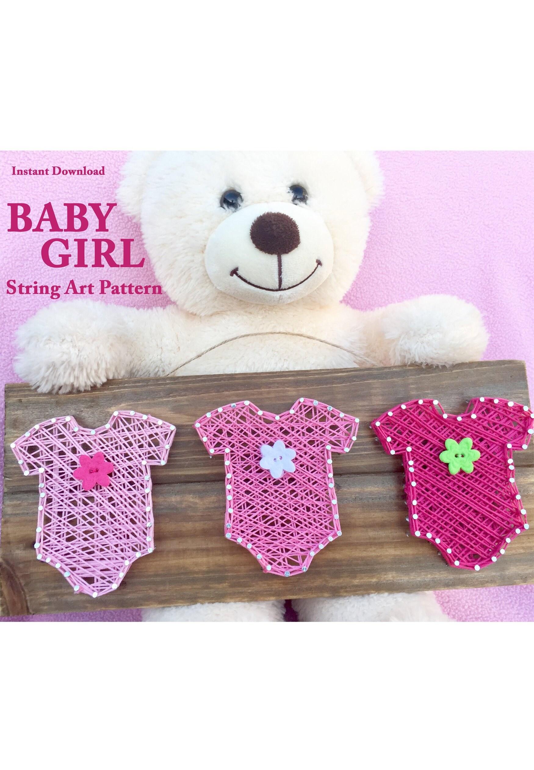 Baby Girl String Art Pattern Adult Craft Teen Craft Baby Etsy