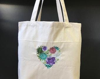 Love of Succulents Tote Bag