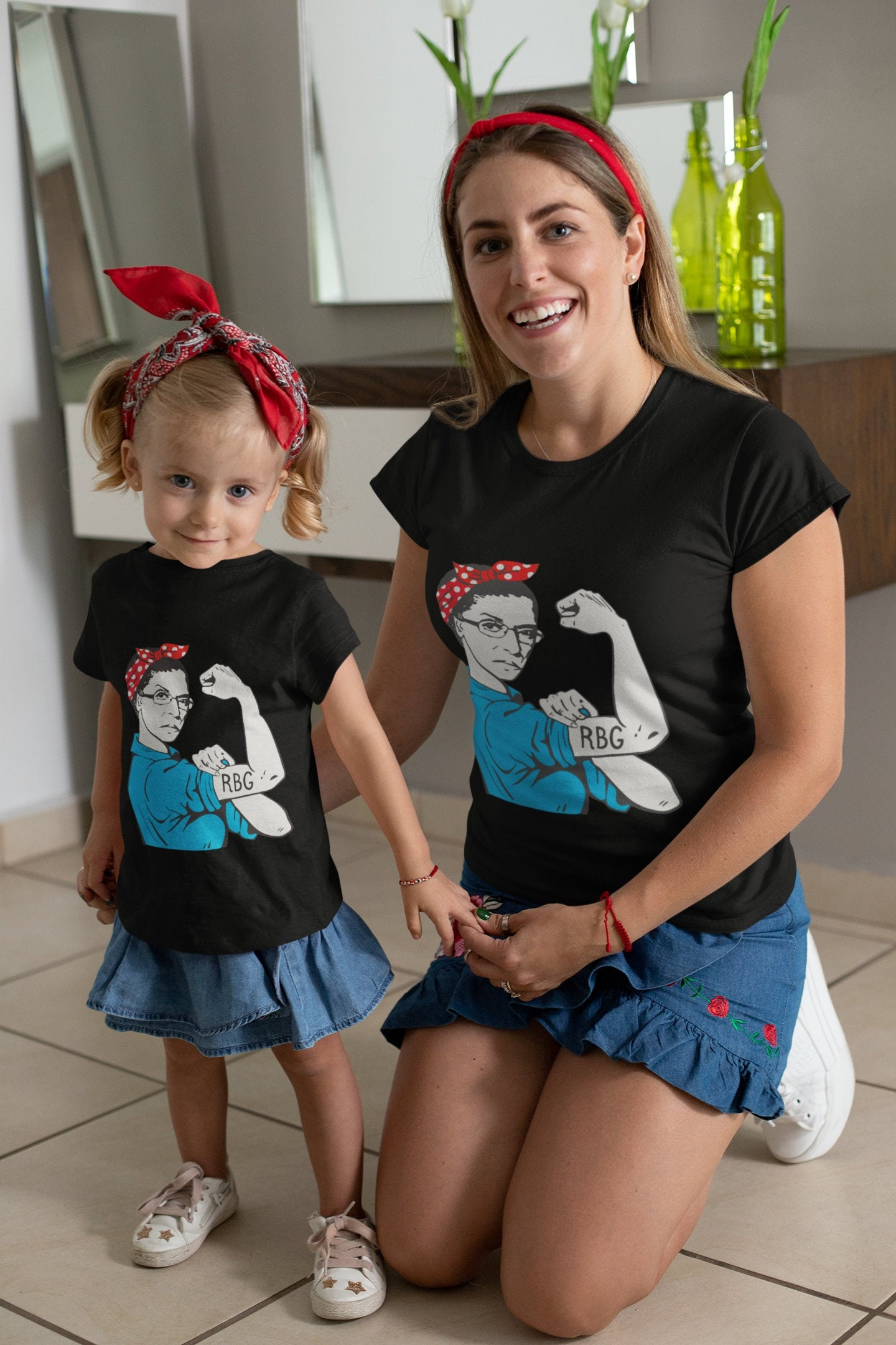 Ruth Bader Ginsburg Rosie The Riveter Kids Adults Matching Etsy