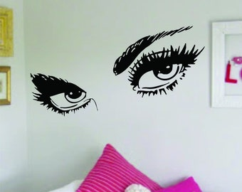 Eyebrows Speak Louder Than Words Wall Decal Decor Decoration