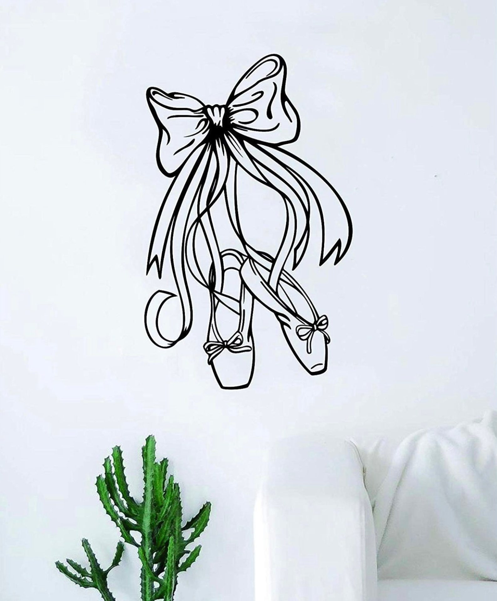 dance shoes wall decal sticker bedroom home room art vinyl inspirational decor teen girls ballet dancer nursery baby