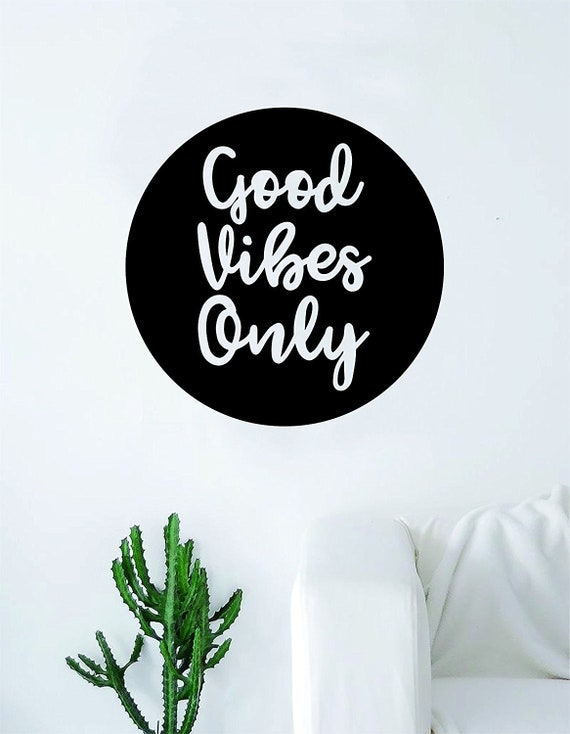Good Vibes Only Positive Happiness Quote Wall Stickers Vinyl Art UK