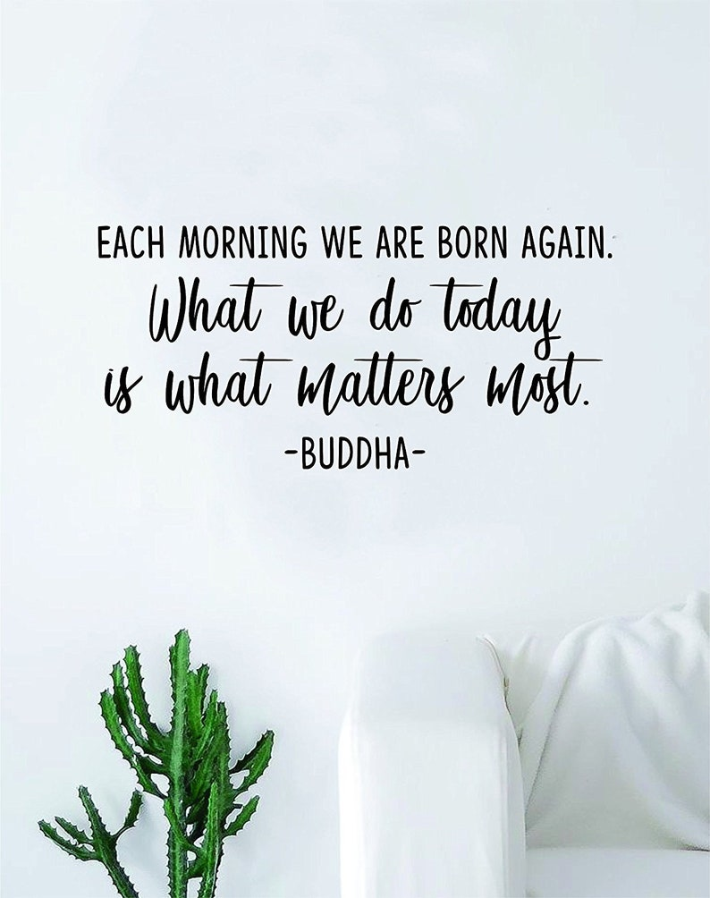 Each Morning We Are Born Again by LongBeachDecals
