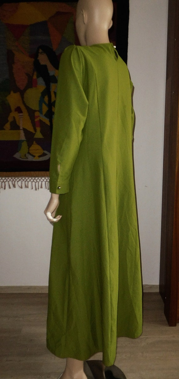 Green Long Dress/Very Modern Elegant - image 5