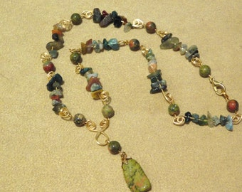 Jade & Agate Necklace