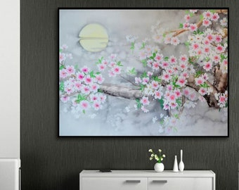Abstract Painting, Flowers, Large wall art, Hand painted art on canvas, Modern oil painting wall art