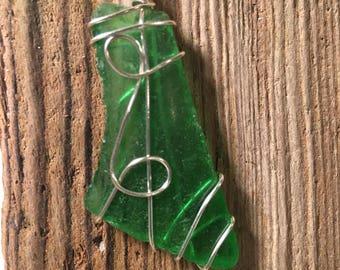 Maine sea glass necklace