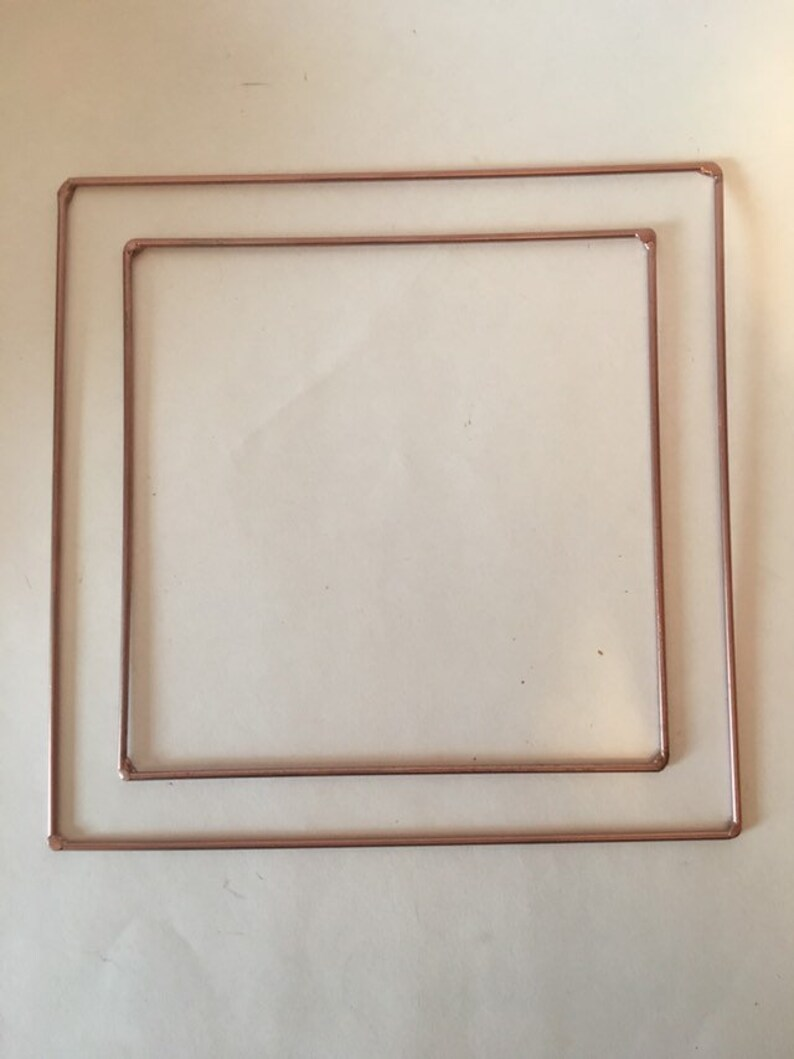 Copper Coloured Square Frames Macrame SuppliesDreamcatcher DiamondsDreamcatcher hoopsWeaving FramesGeometric ShapesGeometric Macrame
