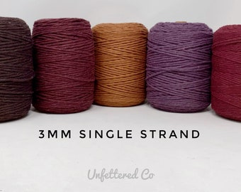 3mm Macrame String/1000 ft Coloured Macrame Cord/Soft Cotton Rope/100% Recycled Cotton/Bulk Discount/Free Shipping/DIY Macrame/Weaving