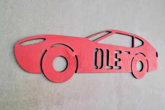 Individuelles Auto Turschild Aus Holz Kinderzimmer Etsy