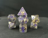 Drow 39 s Destiny - smoke gold flecks dice - quirky dnd gift - d20 fantasy dice - for fans of Critical Role or Dungeons and Dragons