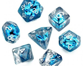 Eye of the Frost Giant - dice with a baleful icy gaze -D&D dice for d20 rpgs, tabletop games, fans of Critical Role, or Dungeons and Dragons